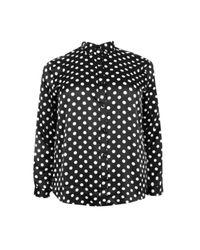 Boohoo - Black Plus Laurie Spot Print Shirt - Lyst