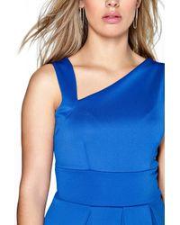 Boohoo - Blue Plus Molly Shoulder Detail Skater Dress - Lyst