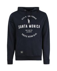 Boohoo - Blue Santa Monica Over The Head Hoodie for Men - Lyst