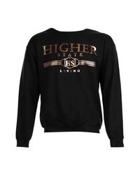 Boohoo - Black Higher State Foil Print Sweater for Men - Lyst