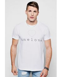 28530ff8d6a7d Lyst - Boohoo Charity One Love T-shirt in White for Men