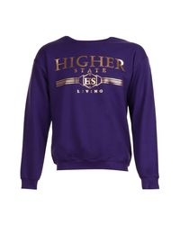Boohoo - Purple Higher State Foil Print Sweater for Men - Lyst