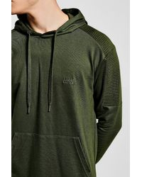 Boohoo - Natural Man Embroidered Biker Hoodie for Men - Lyst