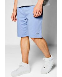 Boohoo Blue Man Jersey Basket Ball Shorts for men