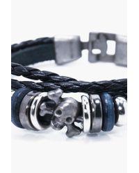 Boohoo - Black Buckle Detail Bracelet for Men - Lyst