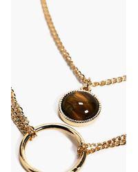 Boohoo - Metallic Circular Charm Necklace for Men - Lyst