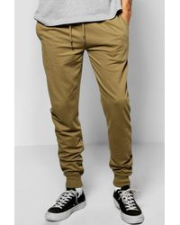 Boohoo   Green Skinny Fit Joggers for Men   Lyst