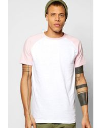 Boohoo - Pink Short Sleeve Raglan T Shirt for Men - Lyst