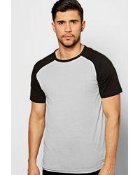 Boohoo | Metallic Short Sleeve Raglan T Shirt for Men | Lyst