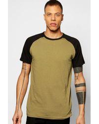 Boohoo | Green Short Sleeve Raglan T Shirt for Men | Lyst