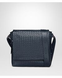 0c0e112e97 Bottega Veneta Denim Intrecciato Calf Messenger Bag in Blue for Men ...