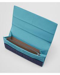 Bottega Veneta - Blue Atlantic Intrecciato Vn/aqua Nappa Continental Wallet for Men - Lyst