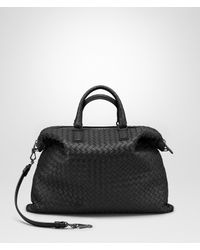 cf1204ea33ab Bottega Veneta. Women s Black Nero Intrecciato Nappa Medium Convertible Bag