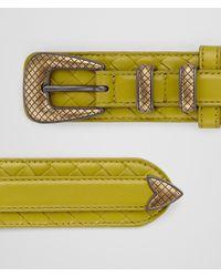 Bottega Veneta - Multicolor Chamomile Intrecciato Nappa Belt - Lyst