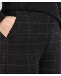 Bottega Veneta - Gray Pant In Nero Dark Grey Ancient Silver Lurex Wool - Lyst