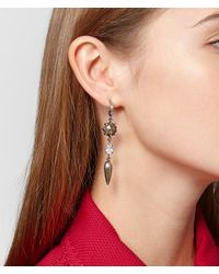 Bottega Veneta - Metallic Natural Antique Silver Stellular Earrings - Lyst