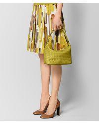 Bottega Veneta - Green Chamomile Intrecciato Nappa Shoulder Bag - Lyst