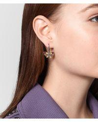 Bottega Veneta - Metallic Multicolor Antique Silver Butterfly Earrings - Lyst