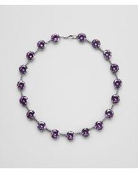 Bottega Veneta - Metallic Necklace In Silver And Byzantine Stones - Lyst