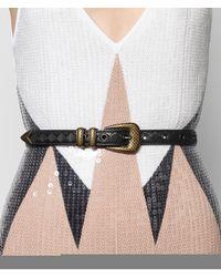 Bottega Veneta - Black Nero Intrecciato Nappa Belt - Lyst