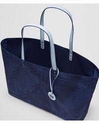 Bottega Veneta - Blue Atlantic Intrecciolusion Tote - Lyst