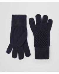 Bottega Veneta - Blue HANDSCHUHE AUS WOLLE for Men - Lyst