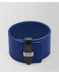 Bottega Veneta - Cobalt Blue Nappa Nero Crocodile Bracelet - Lyst