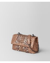 Bottega Veneta - Multicolor Dahlia Intrecciato Snake Club Baby Olimpia Bag - Lyst