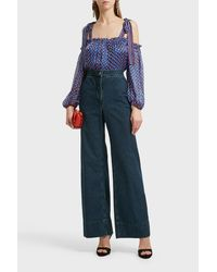 Ulla Johnson - Clement Printed Top, Size Us4, Women, Blue - Lyst