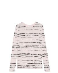 Vince - White Striped T-shirt - Lyst