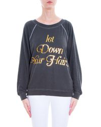 Wildfox - Black Let Down Your Hair Sweater - Lyst