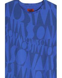 Missoni - Blue Logo T-shirt - Lyst