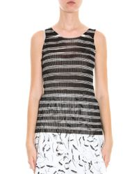 Missoni - Brown Intarsia Tank Top - Lyst