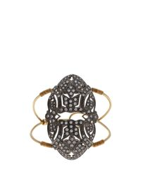 Maha Lozi - Metallic Art Deco Cuff - Lyst