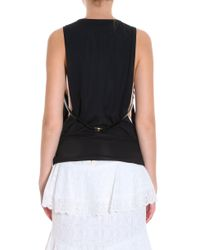 Anthony Vaccarello - Black Belted Top - Lyst