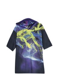 Y-3 - Blue Hooded T-shirt for Men - Lyst