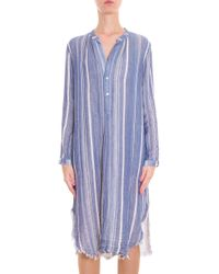 Raquel Allegra - Blue Stripe Cotton Dress - Lyst