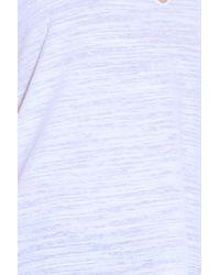 LNA - White Cut-out Neck T-shirt - Lyst