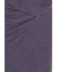 LNA - Gray Double Layer Mini Skirt - Lyst