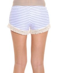 LNA - Multicolor Striped Tassel Shorts - Lyst