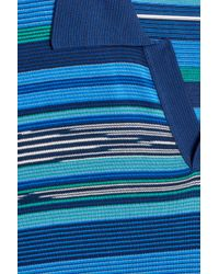 Missoni - Blue Open Polo Shirt for Men - Lyst