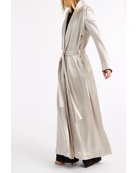Galvan London - Metallic Silk Coat - Lyst