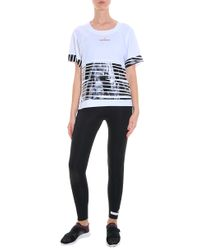 Adidas By Stella McCartney - Black Zebra T-shirt - Lyst