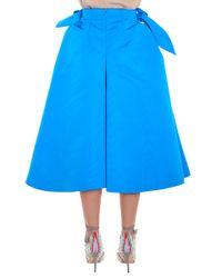 Delpozo - Blue Bow Culottes - Lyst