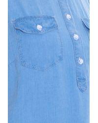 Splendid - Blue Fringe Edge Denim Dress - Lyst