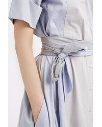 Lisa Marie Fernandez - Blue Shirt Dress - Lyst