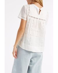 Sea - White Embroidered Lace Blouse - Lyst