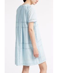 Sea - Blue Lace Embroidered Dress - Lyst