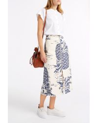 Sea - Blue Pineapple Skirt - Lyst