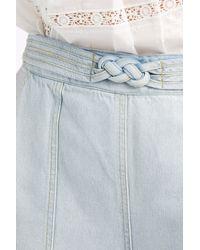Sea - Blue Denim Braid Culottes - Lyst